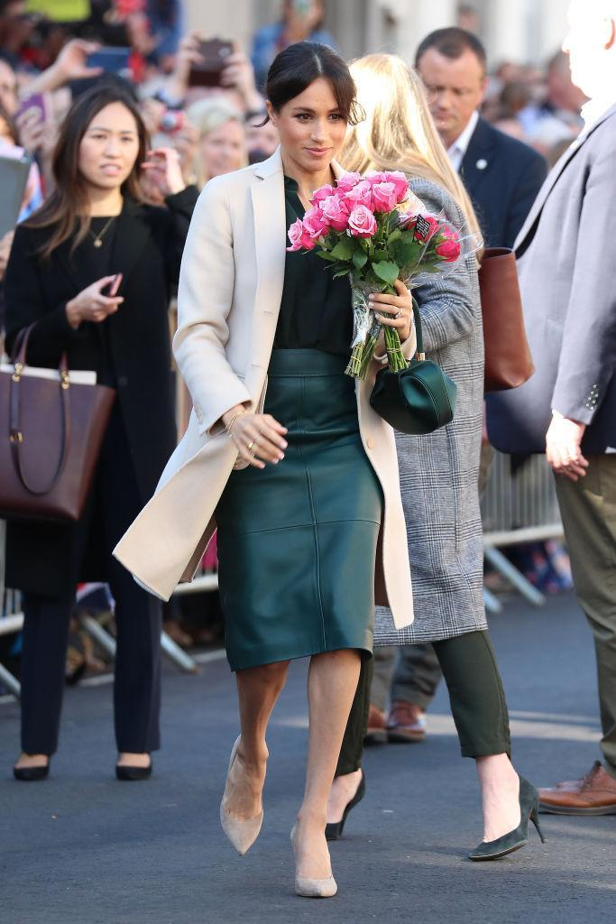 On October 3, the Duchess of Sussex stepped out in her namesake county dressed in anything but British labels [Photo: Getty]