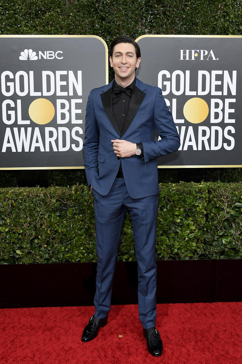 "<h1 class=""title"">Nicholas Braun in Omega jewelry</h1><cite class=""credit"">Photo: Getty Images</cite>"