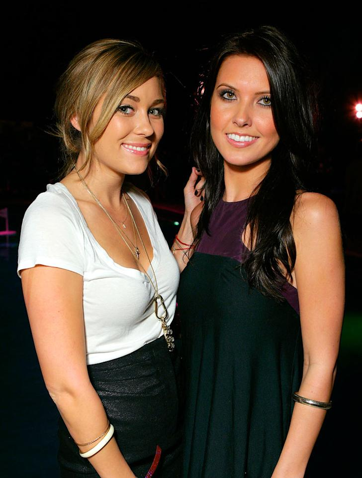 """BFFs Lauren Conrad and Audrina Patridge keep things simple in black and white. Todd Williamson/<a href=""""http://www.wireimage.com"""" target=""""new"""">WireImage.com</a> - October 18, 2007"""