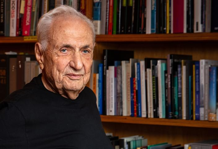 Architect Frank Gehry at his offices in Los Angeles in 2019.