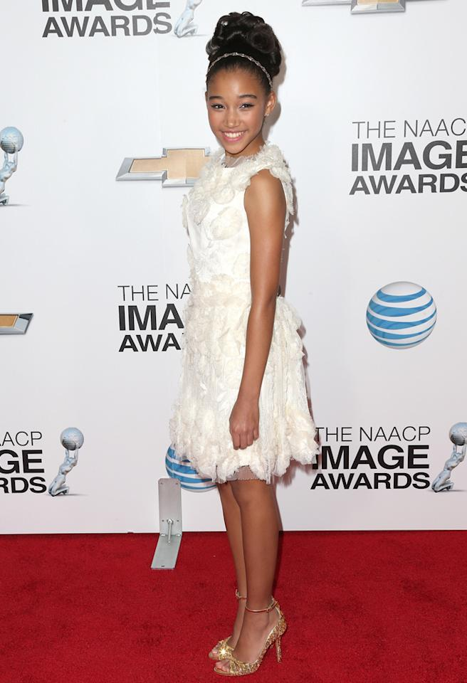 LOS ANGELES, CA - FEBRUARY 01:  Actress Amandla Stenberg attends the 44th NAACP Image Awards at The Shrine Auditorium on February 1, 2013 in Los Angeles, California.  (Photo by Frederick M. Brown/Getty Images for NAACP Image Awards)