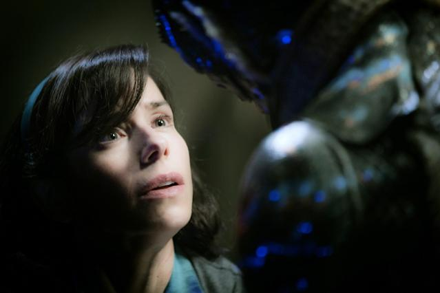 Sally Hawkins and Doug Jones as the lovers in <em>The Shape of Water</em>. (Photo: Fox Searchlight/Courtesy Everett Collection)