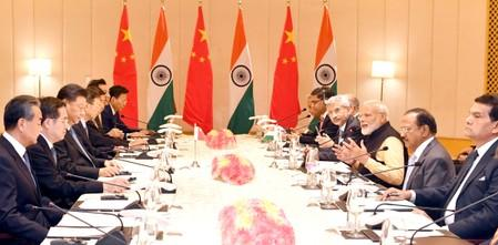 India's Prime Minister Modi and China's President Xi attend delegation level talks in Mamallapuram