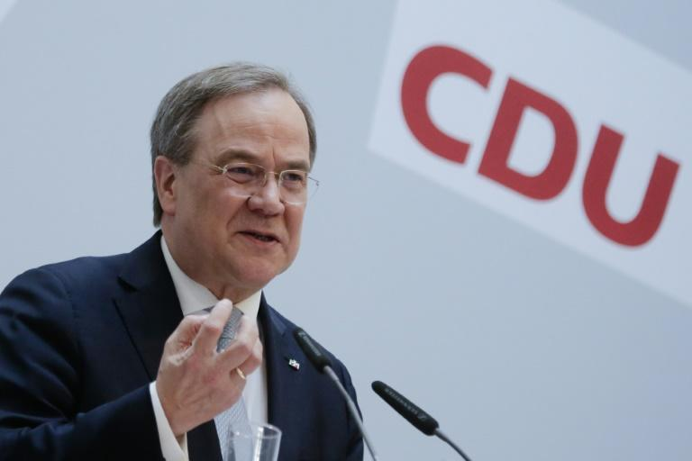 German Christian Democratic Union (CDU) Party Chairman Armin Laschet, one of two candidates vying to replace Chancellor Angela Merkel