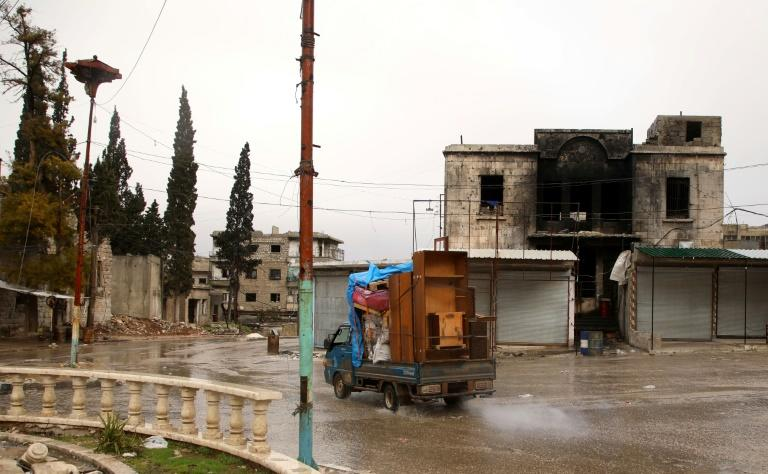 The violence in Idlib since December has forced more than 580,000 people out of their homes, in one of the biggest upheavals in the nine-year civil war