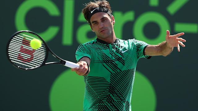 Enjoying a stellar year, Roger Federer was below his best in overcoming Roberto Bautista Agut at the Miami Open.