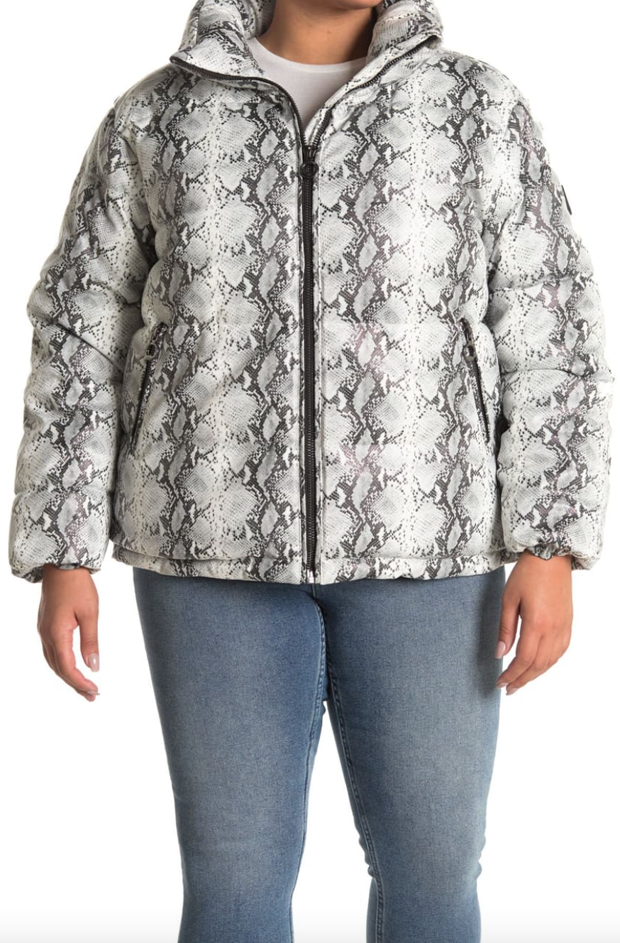 Noize 'Jozy' Snake Print Puffer Jacket (Photo via Nordstrom Rack)