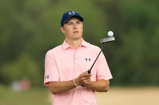 Jordan Spieth at the World Golf Championships-Dell Technologies Match Play on March 24, 2017 in Austin, Texas (AFP Photo/Richard HEATHCOTE)