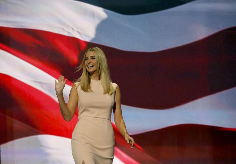 Ivanka Trump taking the stage at the RNC. (Photo: Getty Images)
