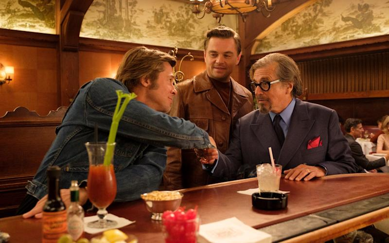Leonardo DiCaprio, Brad Pitt and Al Pacino in Once Upon a Time in Hollywood - © 2018 CTMG, Inc. All Rights Reserved. **ALL IMAGES ARE PROPERTY OF SONY PICTURES ENTERTAINMENT INC. FOR PROMOTIONAL USE ONLY.