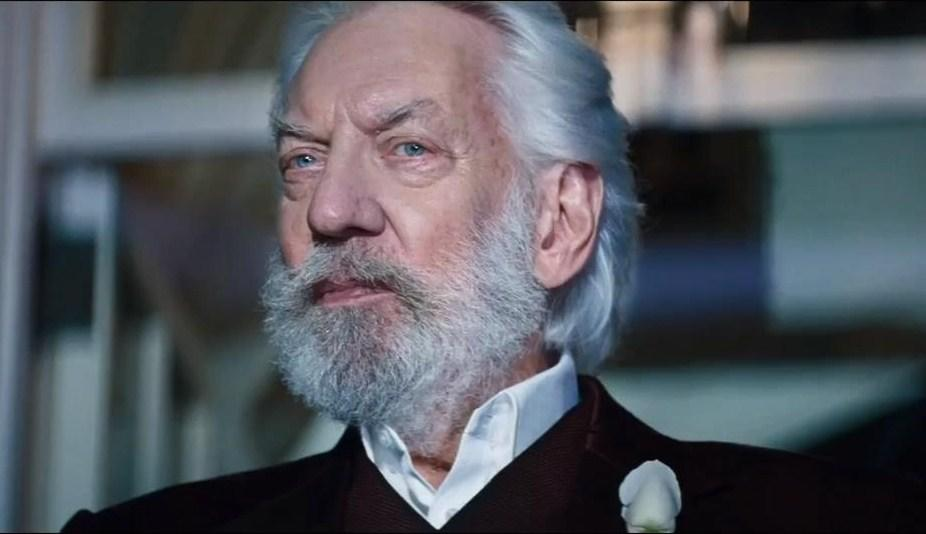 Donald Sutherland as President Snow in The Hunger Games (Credit: Lionsgate)