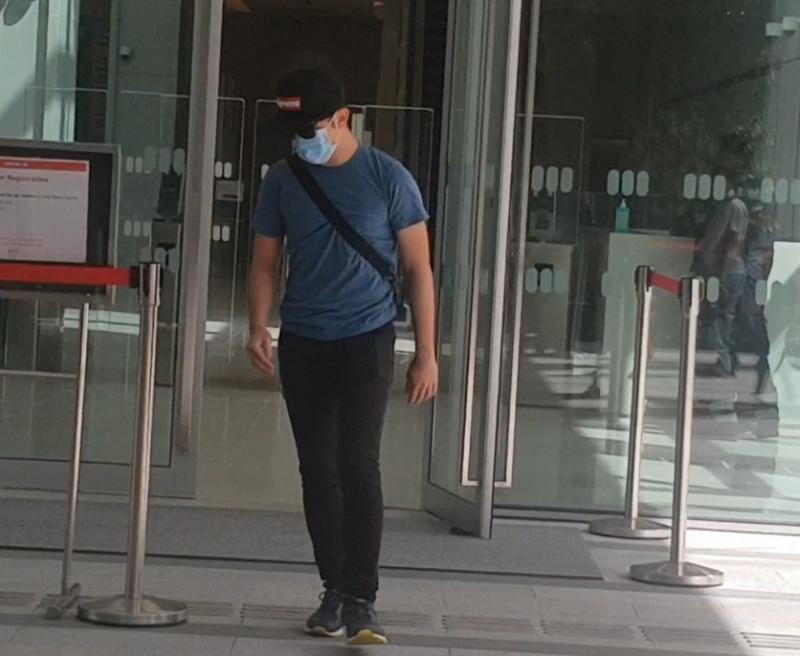 Ryan You Jun Chao leaving the State Courts on Friday (28 January). (Photo: Wan Ting Koh/Yahoo News Singapore)