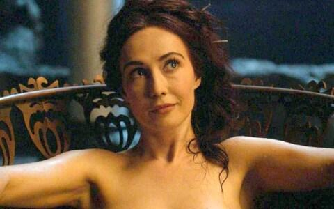 Melisandre without her necklace - Credit: HBO