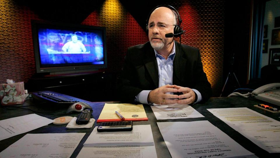 Mandatory Credit: Photo by Mark Humphrey/AP/Shutterstock (6378435d)Dave Ramsey Financial talk show host Dave Ramsey works in his broadcast studio in Brentwood, Tenn.
