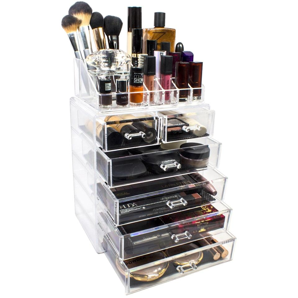 <p>Makeup lovers need this <span>Mainstays Makeup and Jewelry Organizer</span> ($35).</p>