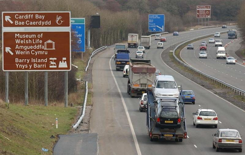 The woman was struck by a van on the M4 near Cardiff - PA Archive/PA Images