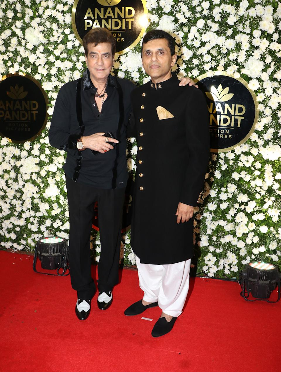 Jetendra posed with Anand Pandit for the paparazzi.