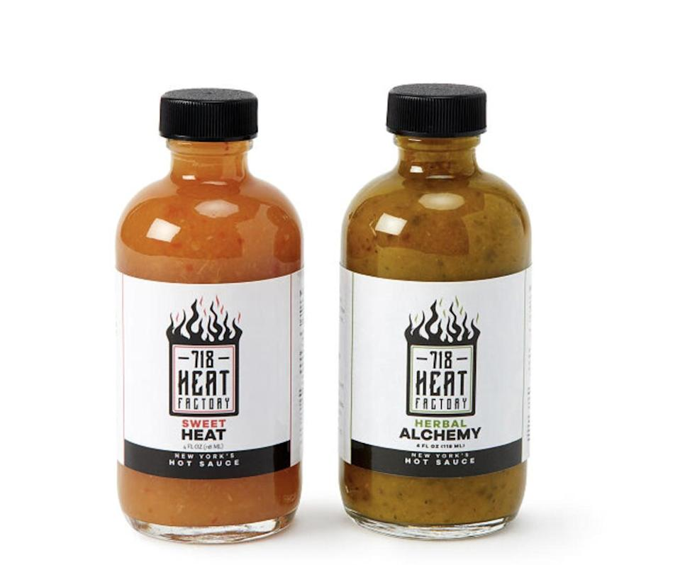 <p>Spice-lovers will enjoy thos <span>Sweet and Savory Hot Sauce Duo</span> ($14).</p>