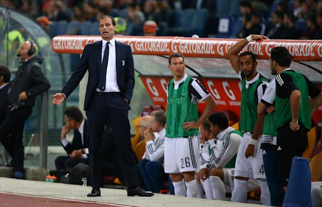 Soccer Football - Serie A - AS Roma vs Juventus - Stadio Olimpico, Rome, Italy - May 13, 2018 Juventus coach Massimiliano Allegri REUTERS/Alessandro Bianchi