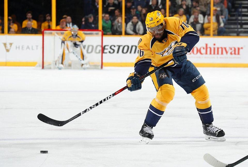 Nashville Predators defenceman P.K. Subban was left off Team Canada's roster for the World Cup this summer, but would he have made the team if he shot left-handed? (Photo by John Russell/NHLI via Getty Images)