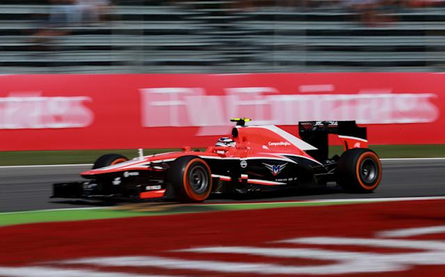 Marussia's Max Chilton during qualifying day for the 2013 Italian Grand Prix at the Autodromo di Monza in Monza, Italy.