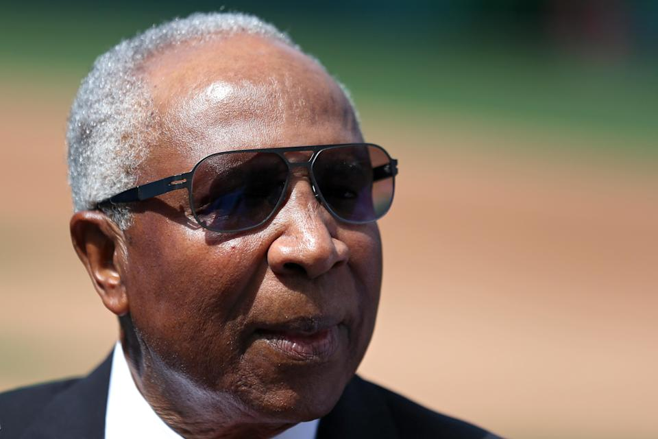 Frank Robinson started his professional baseball career at 17, an outfielder. He'd ended it at 71, a manager. (Getty Images)