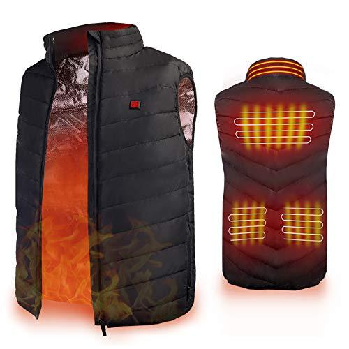 Heated Vest, Enjoyee Warming Heated Vest for Men Women Unisex Electric Heating Vest for Skiing Hunting (Amazon / Amazon)