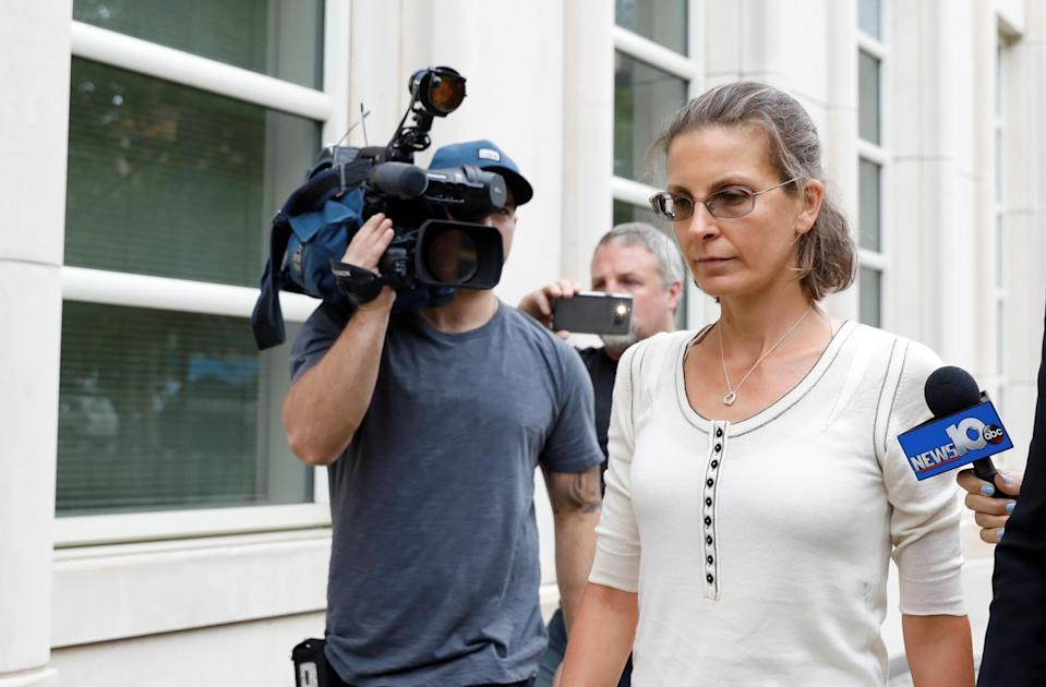 Clare Bronfman was remanded into custody after she was sentenced to nearly seven years in prison.