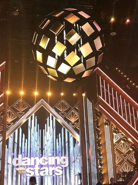 PHOTO: The new 'Dancing With the Stars' mirrorball hangs above the iconic dance floor. (Faryn Shiro/ABC)