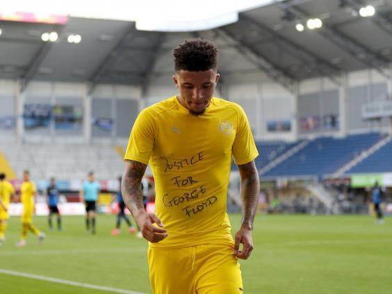 Sancho scored his first hat-trick for Dortmund as he delivered a message (Getty)
