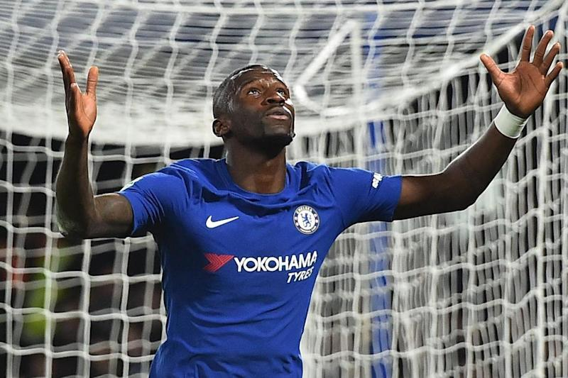 Off the mark | Antonio Rudiger scored his first goal for Chelsea against Everton: AFP/Getty Images