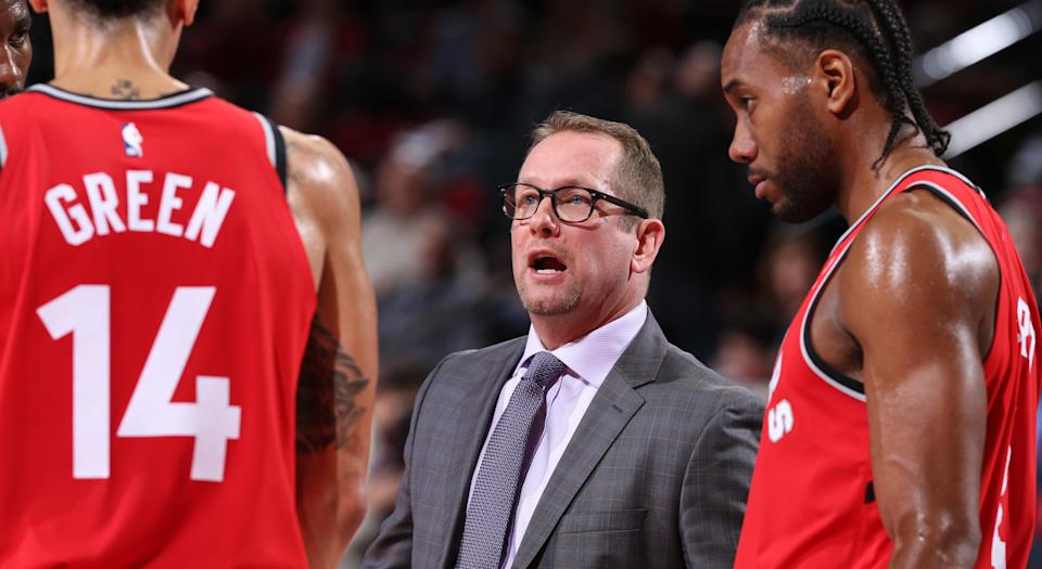 Raptors' head coach Nick Nurse has always been a man of education. (Photo by Sam Forencich/NBAE via Getty Images)