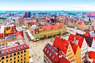 Visit this Polish city for a less crowded alternative to the similarly picturesque cities of Prague, Budapest and Krakow. Median price: £132.23Percentage price change: -42%. <em>[Photo: Getty]</em>