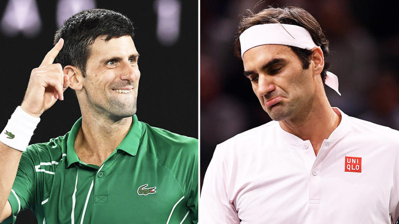 Novak Djokovic (pictured left) and rival Roger Federer (pictured right) are in the debate for the greatest player of all time. (Getty Images)