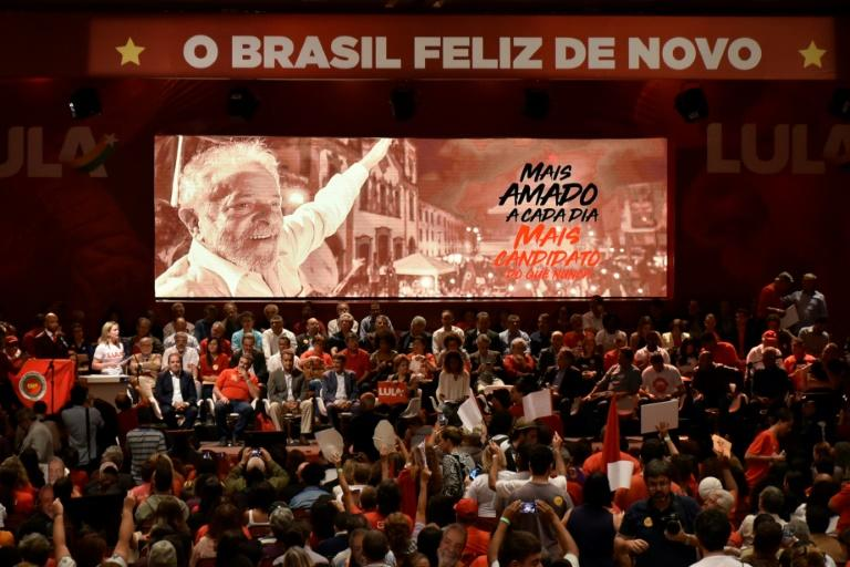A Brazilian Worker's Party rally in early June in Contagem, in Minas Gerais state