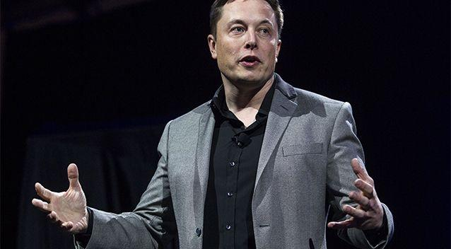 Tesla Inc boss Elon Musk unveils the company's new solar batteries in 2015. Photo: AP