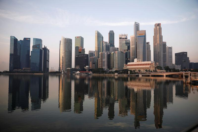 FILE PHOTO: A view of the skyline of Singapore
