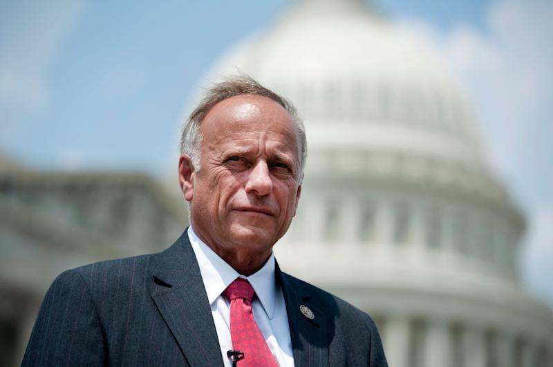Rep. Steve King (R-Iowa) on Saturday attempted to discredit Christine Blasey Ford, a 51-year-old research psychologist in Northern California who has accused Supreme Court nominee Brett Kavanaugh of sexually assaulting her around 1982. (Photo: Chris Maddaloni via Getty Images)