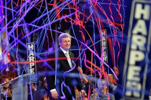 On May 2, 2011, Stephen Harper led the Conservative Party to its first (and, so far, only) majority government since the merger of the Canadian Alliance and Progressive Conservatives in 2003. (Jeff McIntosh / Canadian Press - image credit)