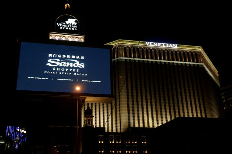 FILE PHOTO: An exterior view of Venetian Macao as part of Sands China Limited development in Macau