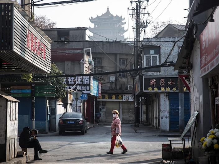 Wuhan, China, where the virus is believed to have originated. (Getty Images)