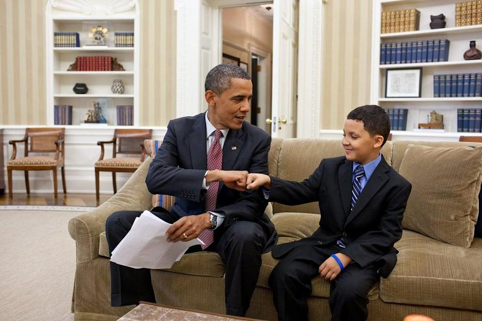 <p>Brainstorm favorite politicians, athletes, or any other role models that your kids might have, and embark upon a letter-writing project. Who knows? It could end with your kiddos scoring an invitation to the White House! </p>