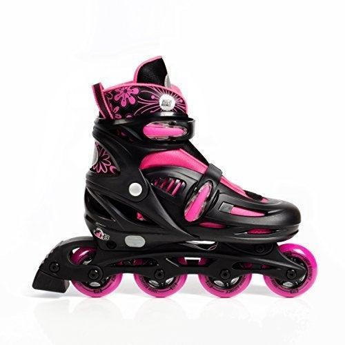 """<h2><a href=""""https://amzn.to/38eegQy"""" rel=""""nofollow noopener"""" target=""""_blank"""" data-ylk=""""slk:Roller Blades"""" class=""""link rapid-noclick-resp"""">Roller Blades</a></h2><br><strong>Jordan</strong><br><br><strong>How She Discovered It:</strong> """"Bought them for my daughter. Was searching everywhere for a pair and could only find them in stock (for a decent price) on Amazon."""" <br><br><strong>Why It's A Hidden Gem:</strong> """"They've been a godsend during a summer stuck at home with the kids. I now can ride my bike while my daughter skates beside me — exercise for me, and fun activity for her! Plus, she loves the pink and black combo. Killing two birds with one stone so I don't go completely insane.""""<br><br><strong>High Bounce</strong> Adjustable Inline Skate, $, available at <a href=""""https://amzn.to/38eegQy"""" rel=""""nofollow noopener"""" target=""""_blank"""" data-ylk=""""slk:Amazon"""" class=""""link rapid-noclick-resp"""">Amazon</a>"""