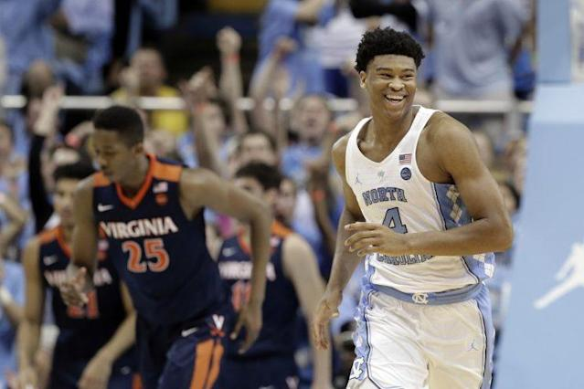 Isaiah Hicks, who missed last week's game at Duke with an injury, looked fully healthy in a dominant performance against Virginia. (AP)
