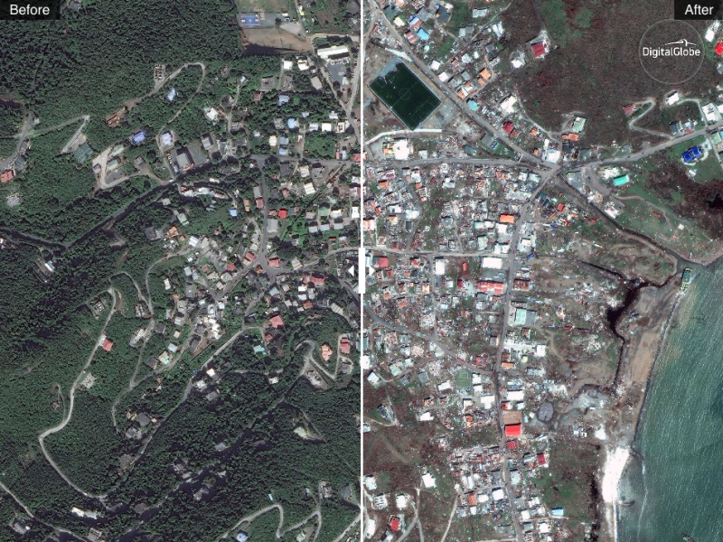 See Stunning Before and After Photos of Hurricane Irma's Impact on the Caribbean