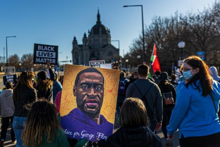 A 'Justice for George Floyd' rally in Saint Paul, Minnesota