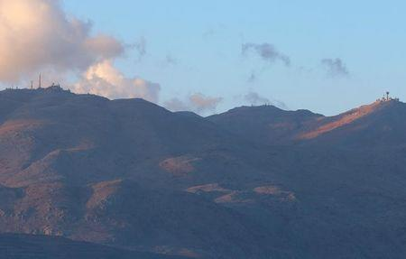 A view of Mount Hermon as seen from Jubata al-Khashab in Quneitra province