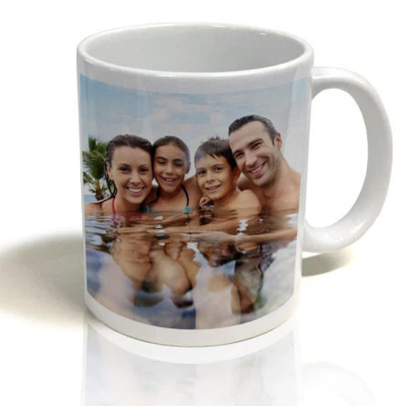 Customers can print photos from their mobile devices and order personalised photo gifts such as mugs. Photo: Big W Australia.