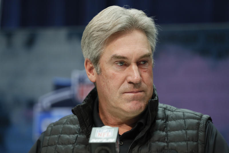 Philadelphia Eagles head coach Doug Pederson said he feels optimistic about the NFL starting. (AP Photo/Charlie Neibergall)