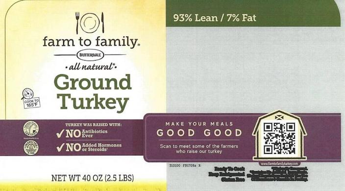 Butterball farm to family all natural Ground Turkey